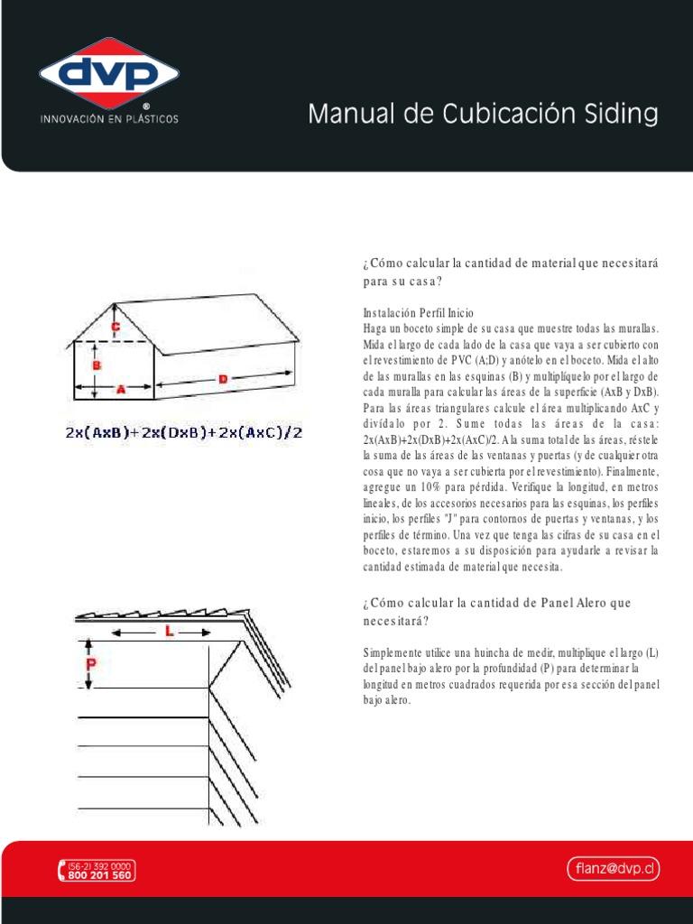 Catalogo Instalacion Manual Cubicacion Siding Herramientas Naturaleza