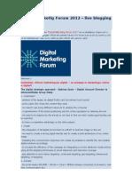 Digital Marketig Forum 2012