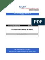 Visiones Del Orden Mundial. Dallanegra Pedraza.