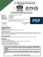 Doncaster Wheelers Start Sheet Open 10 2012
