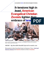 The REAL DANGER of Religious and Political Zionism Within American Evangelical Christianity