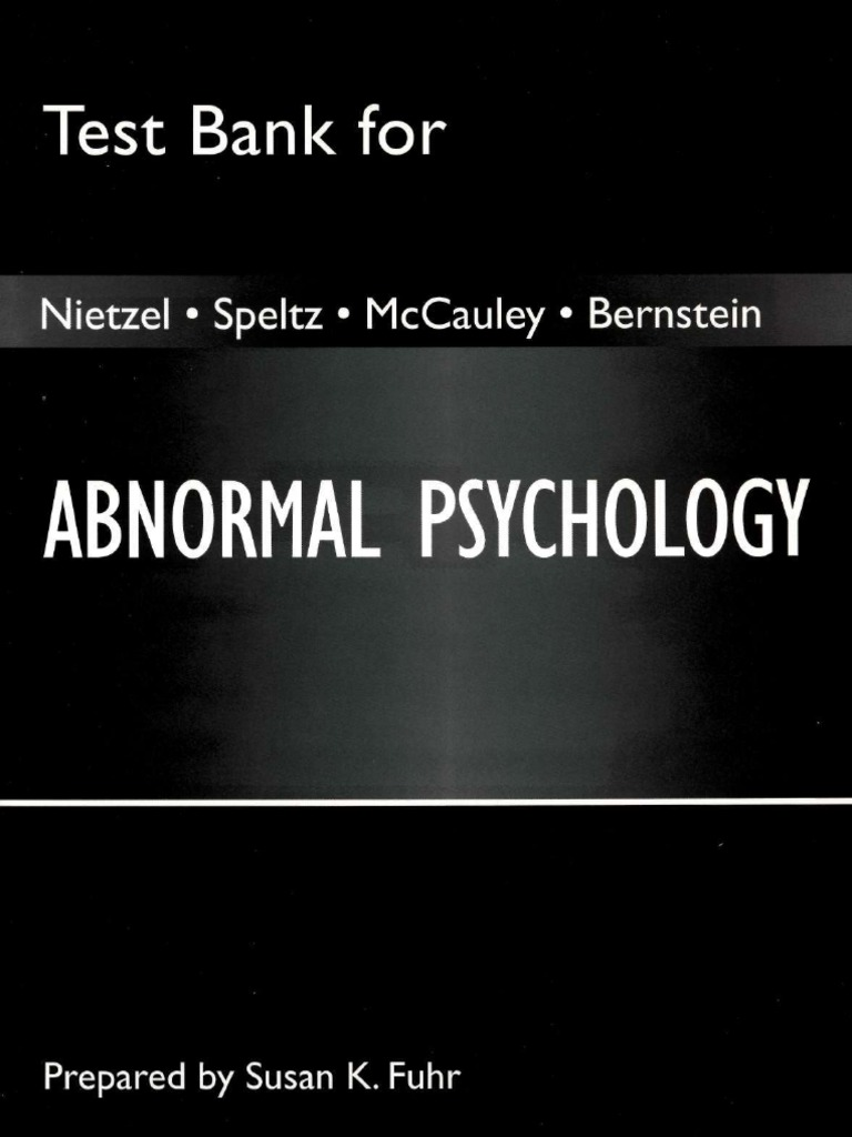 Abnormal psychology test bank fuhr id neurotransmitter fandeluxe Choice Image