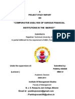 Comparative Analysis of Various Financial Institution in the Market 2011