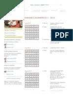 Academic Calendar 2011-12 - MIT