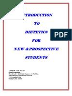 Introduction to Dietetics-Handbook
