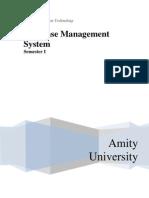 Database Management System for Online