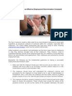 Guidelines in Filing an Effective Employment Discrimination Complaint
