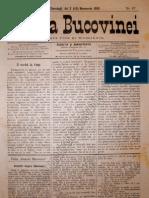 Gazeta Bucovinei #87, Joi 2 (14) Noiembrie 1895