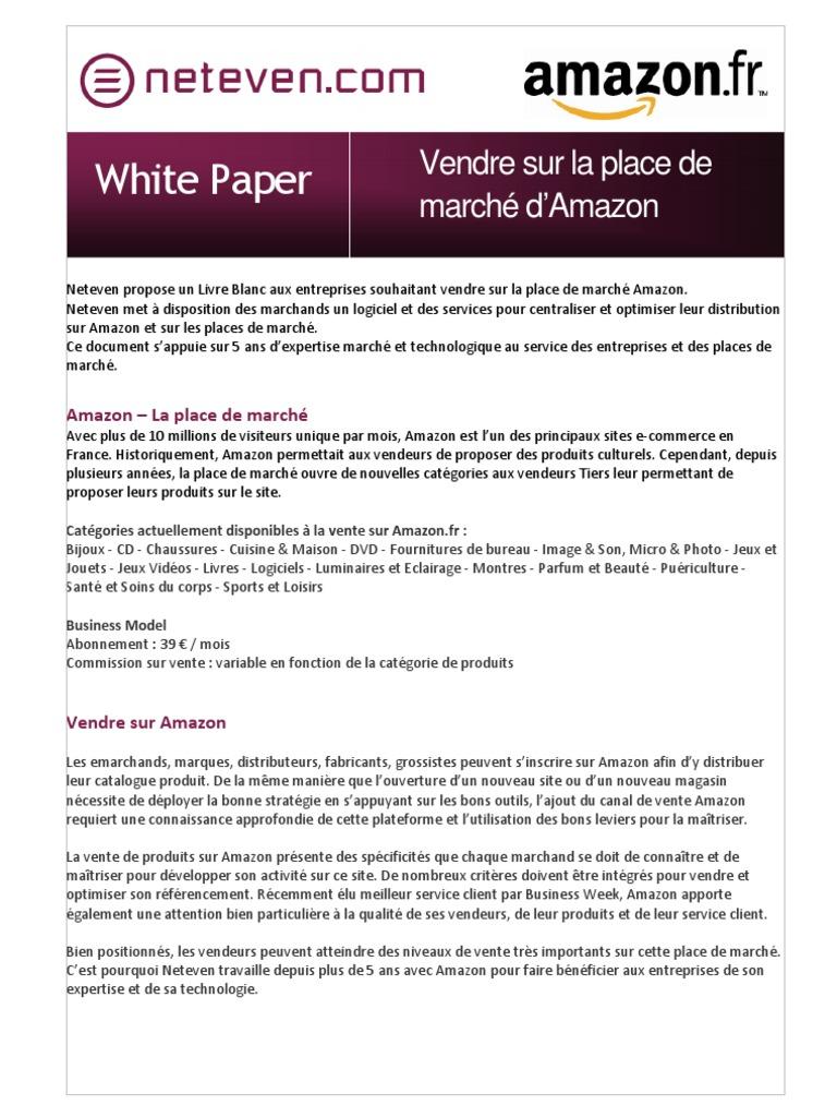 remise spéciale nouveau design profiter du prix de liquidation Livre Blanc Amazon
