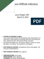 Clostridium Difficile Infection 03.09.2012