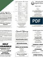 March 11 Bulletin