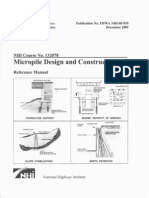 Micropile Design Construction Reference Manual 2005 (FHWA-NHI-05-039)