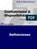 Confiabilidad y Disponibilidad Oruro