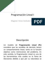 Programación Lineal I