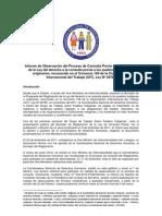 Informe de Observación al Proceso de Reglamentacion de la Ley de Consulta Preva