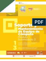 Guia Formativa Soporte y Mantenimiento 1-3, CECyTEH