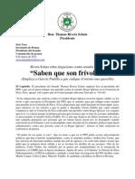 """Rivera Schatz sobre alegaciones contra senador Iglesias """"Saben que son frívolas"""" (Emplaza a García Padilla a que radique él mismo una querella)"""