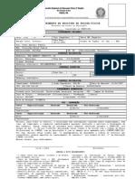 Ficha de Inscrição para Profissionais Graduados