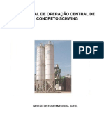 Manual de Operação para  Central de Concreto Schwing