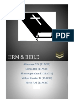 Bible and HRM