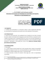 20120206-Edital 2012 1 semestre ASSISTENCIA