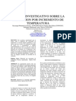 Estudio Investigativo Sobre Dilatacion (Art. Cientifico