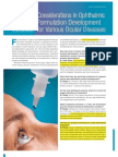 Considerations in Ophthalmic Develop