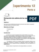 Extracción de la cafeína del té