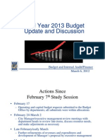 Microsoft Power Point - FY 2013 Budget Update and Discussion