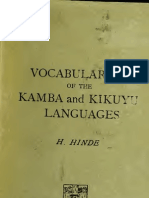 Kamba and Kikuyu Languages