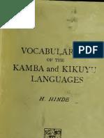 Kamba and Kikuyu Languages