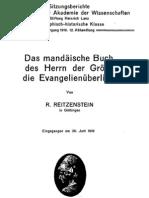 Reitzenstein - Das mandäische Buch des Herrn der Größe
