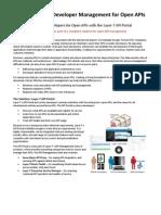 Developer Management for Open API Solution Brief