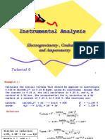Tutorial 6 Electrogravimetry Coulomtry Amperometry