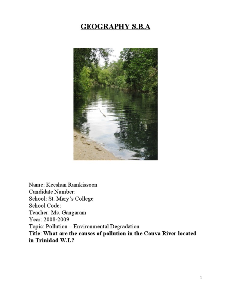 geography sba Geography sba (1) - download as word doc (doc / docx), pdf file (pdf), text  file (txt) or read online geography sba.