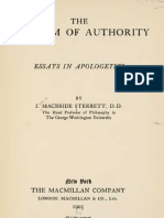 James MacBride Sterrett the FREEDOM of AUTHORITY Essays in Apologetics New York London 1905
