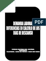 Demanda Laboral Diferencia pago dias de descanso