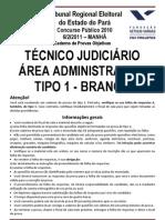 TÉCNICO JUDICIÁRIO - ADMINISTRATIVA - TIPO 1