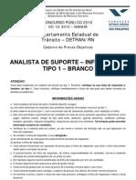ANALISTA DE SUPORTE - INFORMÁTICA - TIPO 1 - BRANCO