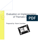 evaluation on implementation of thematic unit