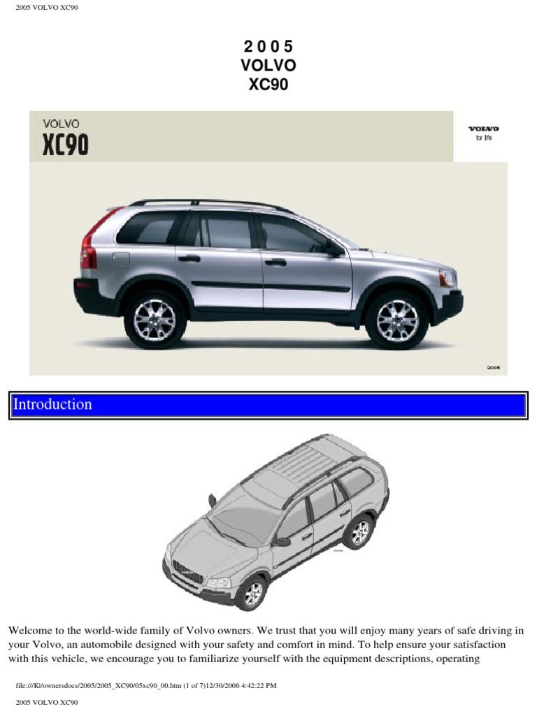 volvo xc90 2005 user manual airbag seat belt rh scribd com xc90 2005 manual xc90 2009 manual