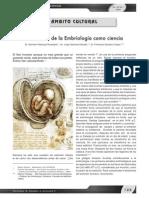 Desarrollo de La Embriologia Como Ciencia