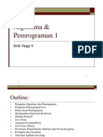 Algoritma Dan Pemrograman 1 Pengantar