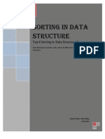 Sorting in Data Structure