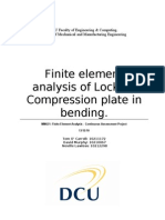 Finite element analysis of Locking Compression plate in bending