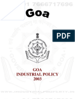 Goa Industrial Policy 2003