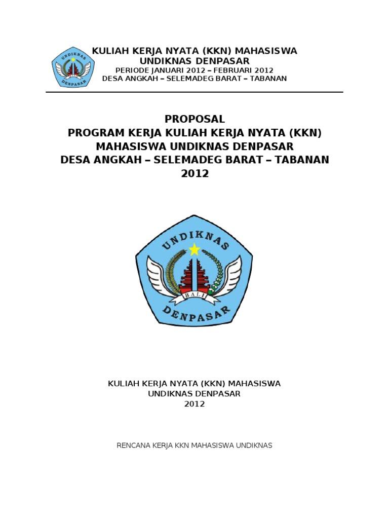 Proposal Program Kerja Kkn 2012