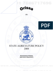 Orissa Agriculture Policy 2008