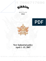 Sikkim Industrial Policy 2007