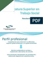 Tecnicatura Superior en Trabajo Social